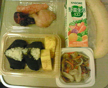新幹線で朝食